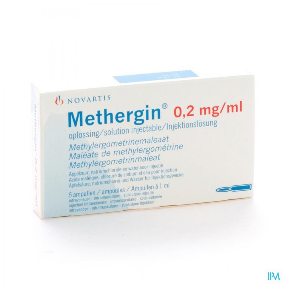 METHERGIN AMP 5 X 0,2 MG/1 ML | Apotheek Claeys-Decraene