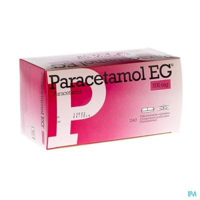 PARACETAMOL EG 500 MG FILMOMH TABL 240