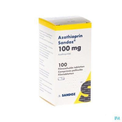 AZATHIOPRIN SANDOZ 100 MG COMP 100 X 100 MG