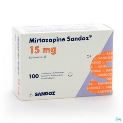 MIRTAZAPINE SANDOZ 15 MG ORODISP TABL 100