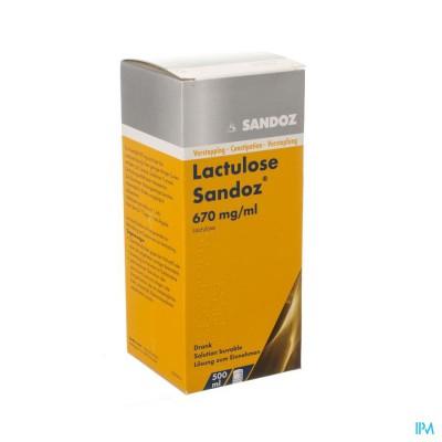 LACTULOSE SANDOZ DRANK 500 ML 670 MG/ML