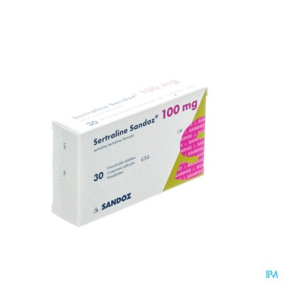 SERTRALINE SANDOZ COMP  30 X 100 MG