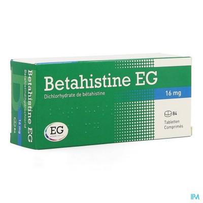 BETAHISTINE EG COMP 84 X 16 MG