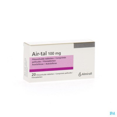 AIR-TAL ANTI INFLAMMATOIRE COMP 20X100MG