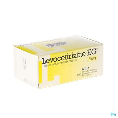LEVOCETIRIZINE EG 5 MG FILMOMH TABL 100