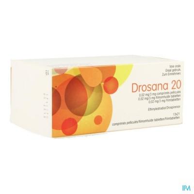 DROSANA 20 0,02MG/3MG FILMOMH TABL 13 X 21