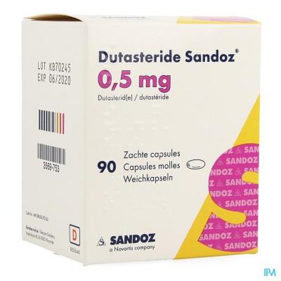 DUTASTERID SANDOZ 0,5MG ZACHTE CAPS 90 X 0,5MG