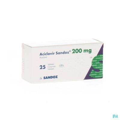 ACICLOVIR SANDOZ COMP 25X200MG