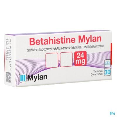 BETAHISTINE MYLAN 24 MG COMP 30 X 24 MG