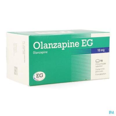 OLANZAPINE EG 10 MG FILMOMH TABL 98 X 10,0 MG