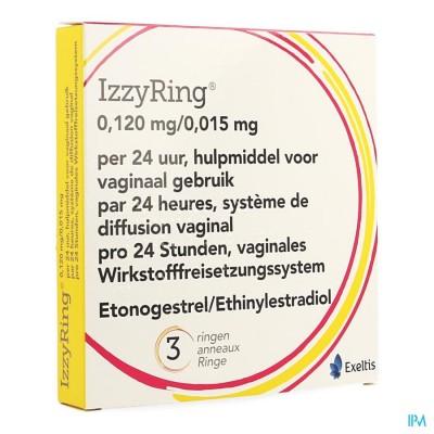 IZZYRING 0,120MG/0,015MG 24U VAGINALE RING 3