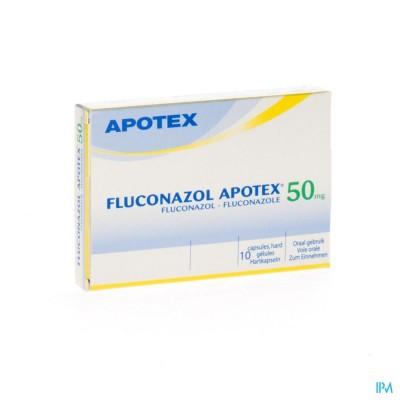 FLUCONAZOL APOTEX  50 MG CAPS 10