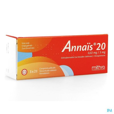ANNAIS 20 0,02MG/3MG FILMOMH TABL 3 X 21