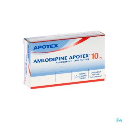 AMLODIPINE APOTEX 10 MG TABL  30