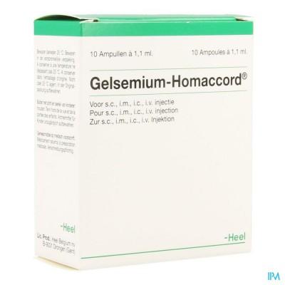 GELSEMIUM HOMACCORD              AMP 10X1,1ML HEEL