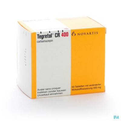 TEGRETOL CR DIVITABS 50 X 400 MG