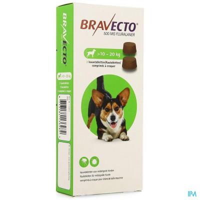 Bravecto Kauwtabletten Hond 2x 500,0mg