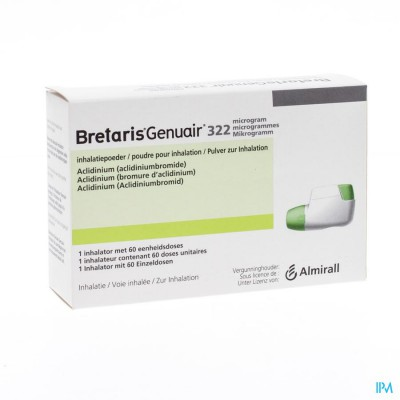 BRETARIS GENUAIR 322MCG INHAL POEDER 1X60 DOSES