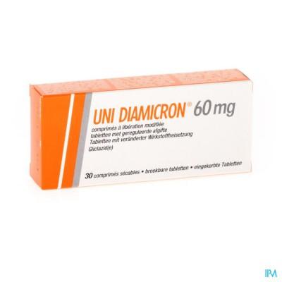 UNI DIAMICRON COMP 30 X 60 MG