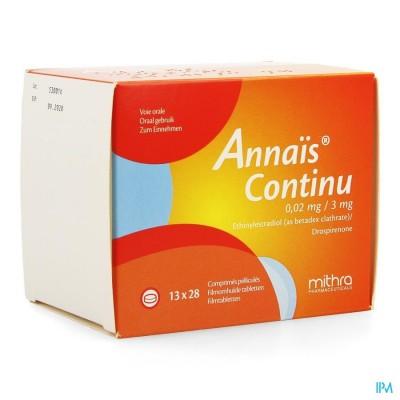 ANNAIS CONTINU 3MG/0,020MG FILMOMH TABL 13 X 28