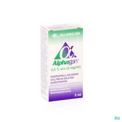 ALPHAGAN 0,2% COLLYRE 1X5ML