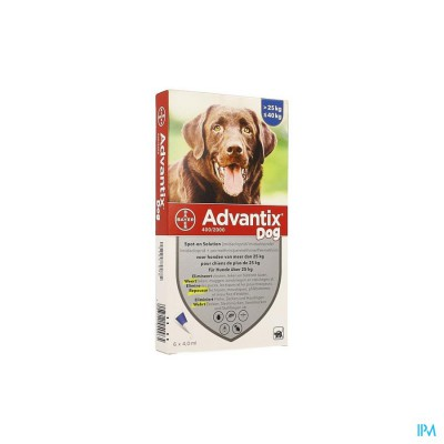 Advantix 400/2000 Honden 25<40kg Fl 6x4,0ml