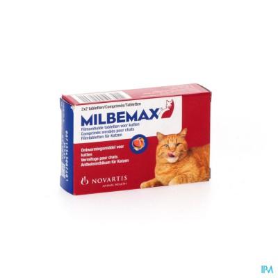 Milbemax Katten Filmomh.tabl Blister 2x2