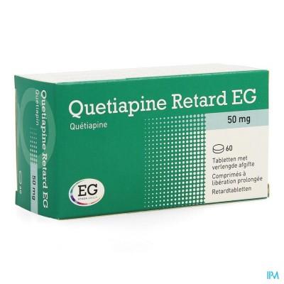 QUETIAPINE RETARD EG 50MG VERL.AFGIFTE COMP 60