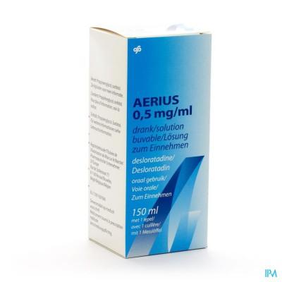 AERIUS DRINKBARE OPLOSSING 0,5MG/1ML 150ML