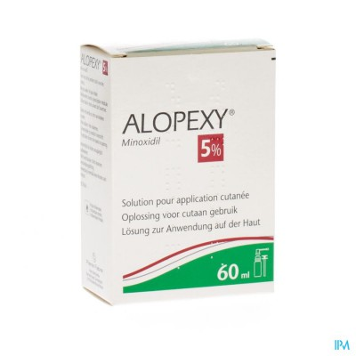 ALOPEXY 5 % LIQUID FL PLAST PIPET 1X60ML