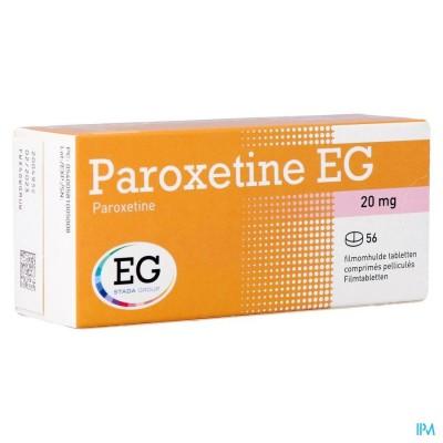 PAROXETINE EG FILMOMH TABL 56 X 20MG BLISTER