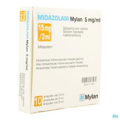 MIDAZOLAM MYLAN 5MG/ML OPL INJ AMP 10 X 3ML