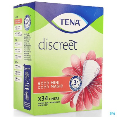 TENA DISCREET MINI MAGIC 34