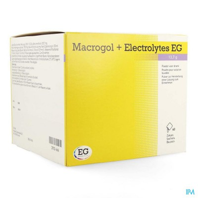 MACROGOL+ELECTROLYTES EG 13,7G PDR SACH 40