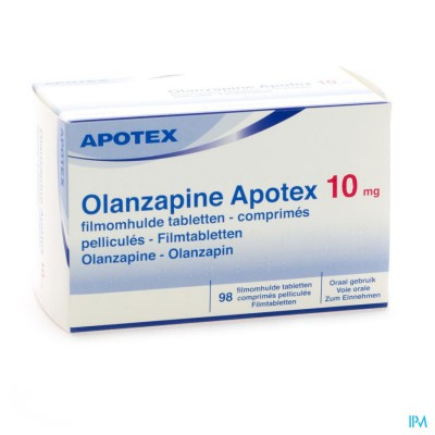 OLANZAPINE APOTEX 10 MG COMP PELL 98X 10MG