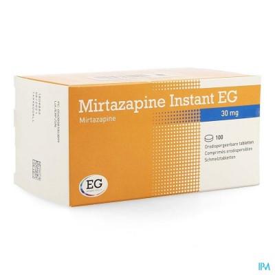 MIRTAZAPINE EG INSTANT 30 MG ORODISP TABL 100
