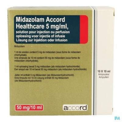 MIDAZOLAM ACCORD 5MG/ML 10ML 10 AMP