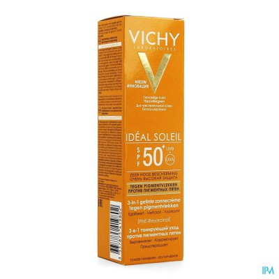 VICHY CAP ID SOL IP50+ CR A/PIGMENTVLEK 3IN1 50ML