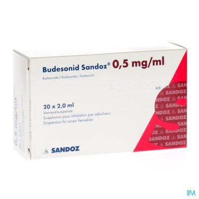 BUDESONID SANDOZ 0,5 MG/ML VERNEVELSUSP 4X5 AMP