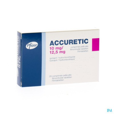 ACCURETIC COMP 28X10MG/12,5MG