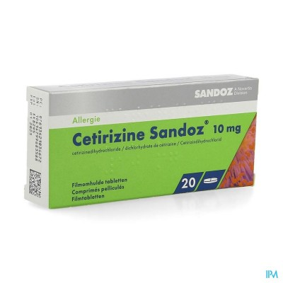 CETIRIZINE SANDOZ 10MG COMP 20 X 10MG