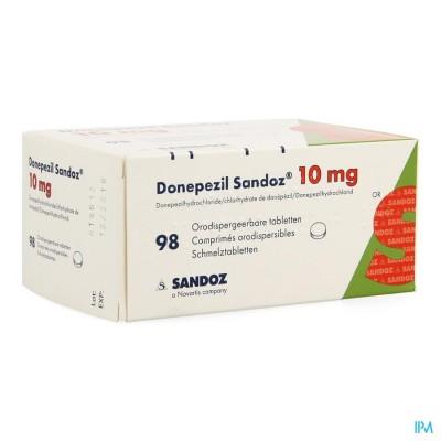 DONEPEZIL SANDOZ 10,0 MG ORODISP TABL 98 X 10,0MG