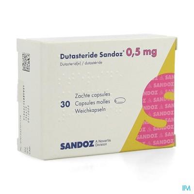 DUTASTERID SANDOZ 0,5MG ZACHTE CAPS 30 X 0,5MG