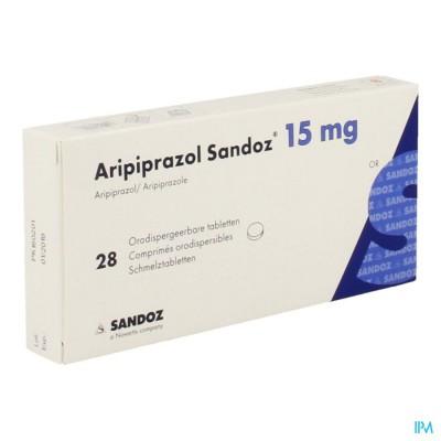 ARIPIPRAZOL SANDOZ 15 MG COMP ORODISP. 28 X 15 MG