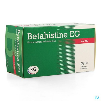 BETAHISTINE EG COMP 100 X 24 MG