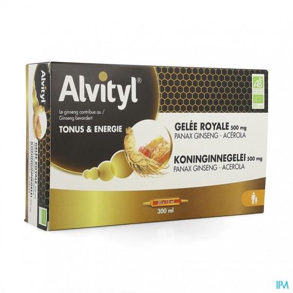 ALVITYL KONINGINNEGELEI GINSENG ACEROLA 20X15ML